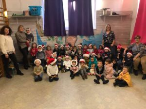 Célébration de Noël en classe d'accueil et en M1